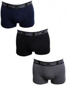 Boxer HOM boxerline (pack of 3) 2 (NOIR/MARINE/GRIS CHINÉ)