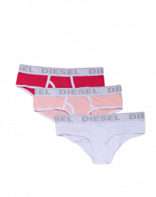 Diesel panties (pack of 3: white, pink, fuschia)