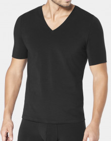 V neck t-shirt Sloggi Men Zero Feel (Black)