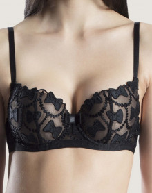 Padded bra Aubade The Bow Collection (Soir)