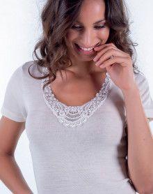 Moretta wool & silk undershirt