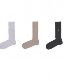 Chaussettes HOM coton peigné (3 paires) (NATUREL/BEIGE/MARRON)