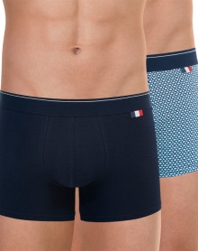 Set of two Eminence boxers made in France (Navy/nuts)