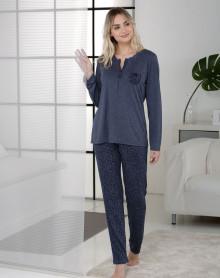 Blue pyjama printed leopard Massana