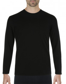 Eminence Natural Warmth T-shirt round neck long sleeves (Black)