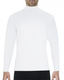 Eminence Natural Warmth T-shirt chimney collar long sleeves (White)