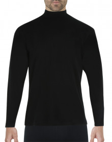 Eminence Natural Warmth T-shirt chimney collar long sleeves (Black)