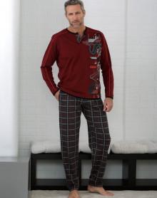 Grenat vigoré pyjama Massana
