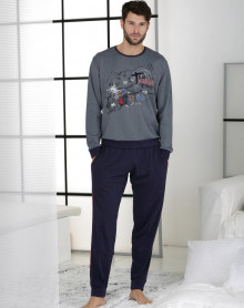Grey blue jogging shape pyjama Massana