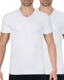 Set of 2 Athena V-neck T-shirts Organic Cotton (White)