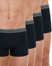 Set of 4 Athena Boxers (Black)