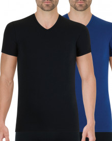 Pack of 2 t-shirts Athena Full Stretch (Black - Navy blue)