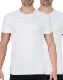 Lot of 2 Athena Bio round neck t-shirts (White)