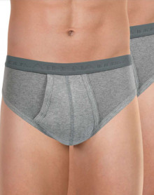 Pack of 2 Athena Organic Cotton open-waist briefs (Heather grey)