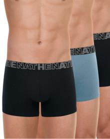 Pack of 3 Athena Basic Color boxers (Black - Grey - Black)