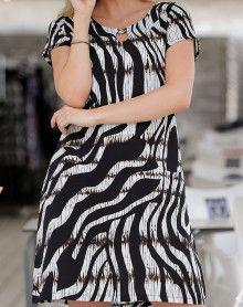 Zebra black beach dress Massana