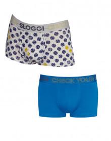 Hispter Sloggi MEN GO (Pack of 2) (Gris balls/Bleu)