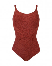 Underwired One-Piece Swimsuit Antigel L'Ethnica (Ocre Brune)