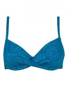Underwired bath bra Antigel L'Ethnica (Bleu Canard)