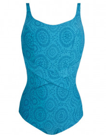 Underwired One-Piece Swimsuit Antigel L'Ethnica (Bleu Canard)